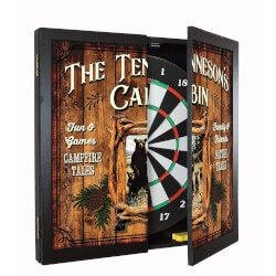 Fathers Day Gift Ideas:Personalized Dartboard & Cabinet