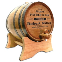 Fathers Day Gift Ideas:Dads Whiskey & Wine Barrel