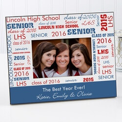 Personalized Gifts for 14 Year Old:Personalized Picture Frames - School Spirit