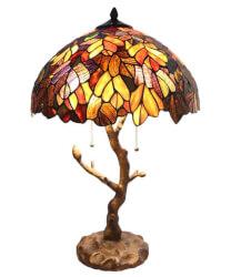Fall Leaves Glass Lamp
