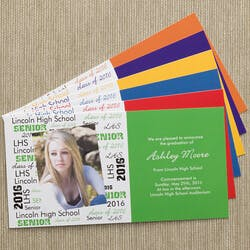 School Spirit Graduation Announcement - Set..