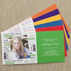 Personalized Gifts (Under $10):School Spirit Graduation Announcement - Set..