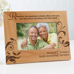 Retirement Gifts:Personalized Retirement Picture Frames - 4x6