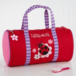 Christmas Gifts for Kids Under $50:Personalized Girls Duffel Bags - Ladybug
