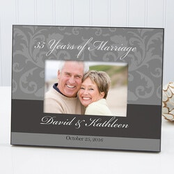 Valentines Day Gifts for Wife:Personalized Wedding & Anniversary Damask..