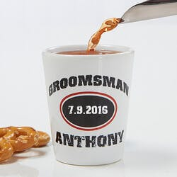 Personalized Groomsmen Gifts - Shot Glass