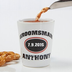 Personalized Gifts (Under $10):Personalized Groomsmen Gifts - Shot Glass