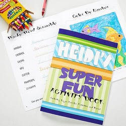 Personalized Kids Coloring Book & Crayon Set