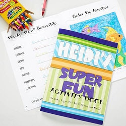 Personalized Gifts for 3 Year Old:Personalized Kids Coloring Book & Crayon Set