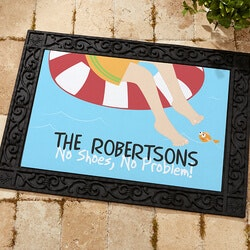 Personalized Christmas Gifts for Family:Personalized Doormat - Summer Fun 18x27