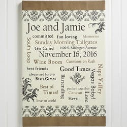 Our Life Together 16x24 Personalized Wedding..