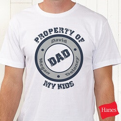Gifts for Dad:Personalized T-Shirts For Dads - Property Of..