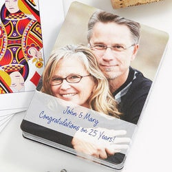 5th Anniversary Gifts Under $25:Personalized Photo Playing Cards