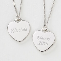 High School Graduation Gifts:Personalized Graduation Necklace - Silver..