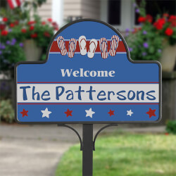 Personalized Patriotic Yard Stakes