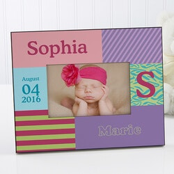 Baby Girl Personalized Picture Frames