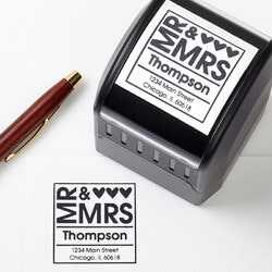 Romantic Gifts:Personalized Address Stamp - Mr & Mrs