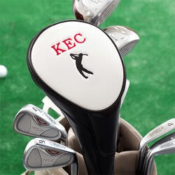 Peronalized Golf Club Head Cover - Black