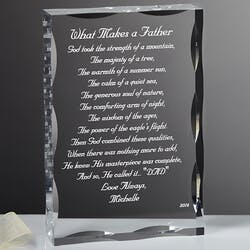 Personalized Gift Sculpture With Father Poem