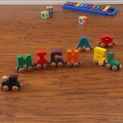 Gifts for Grandson:Personalized Wooden Name Train - 5 Letters