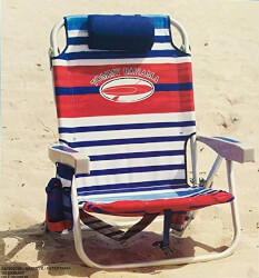 Tommy Bahama Folding Beach Chair (Red White & Blue Stripe)