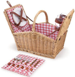 Willow Picnic Basket for Two
