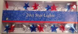 White & Blue Stars Electric String Lights