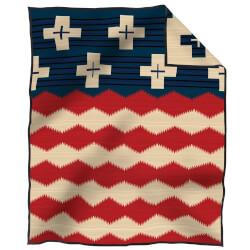 Pendleton Brave Star Blanket Red/White/Blue