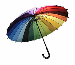 Rainbow Color Wheel Umbrella