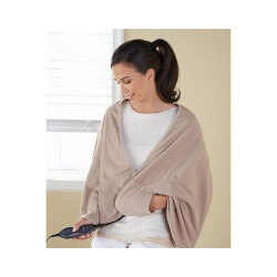Christmas Gifts for Mom Under $50:Chill Away Heated Fleece Wrap