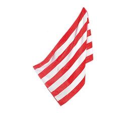 Cabana Terry Beach Towel, Red / White,
