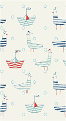 Seafarer Gulls Guest Towel, Red/White/Blue