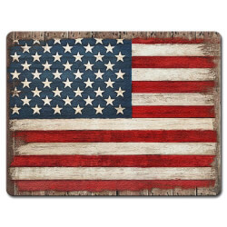 Painted Flag Glass Cutting Board