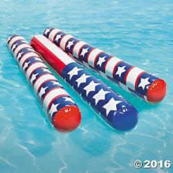 Set of 6 Patriotic Pool Swim Noodles