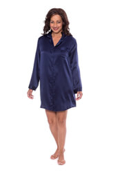 Women's Elegant Silk Sleep Shirt