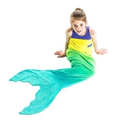 Birthday Gifts for 9 Year Old:The Original Mermaid Tail Blanket