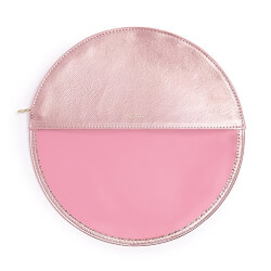 Metallic Pink Peekaboo Circle Clutch