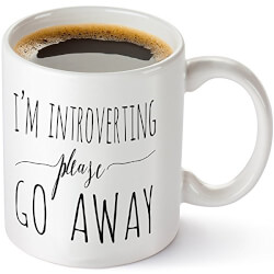 I'm Introverting Please Go Away Coffee Mug